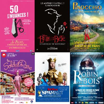 Les Comédies Musicales de la rentrée 2013