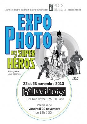 exposition Super Héros à la Bellevilloise