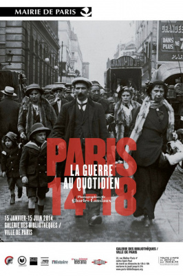 exposition Paris 14-18 à la Galerie des Bibliothèques