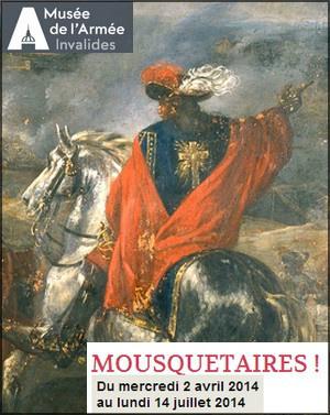 Exposition Mousquetaires au Musée de l'Armée