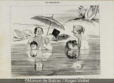 Plages à Paris selon Daumier à la Maison de Balzac