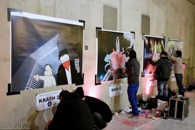 Paris sous les bombes, exposition Gare Magenta