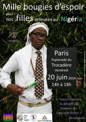mille bougies d'espoir, Place du Trocadéro