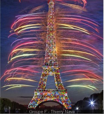 Feu d'artifice du 14 juillet 2014 à Paris