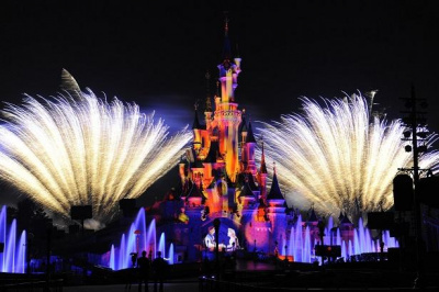 Feu d'artifice à disney