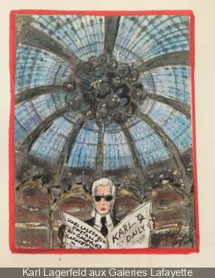 Karl Lagerfeld aux Galeries Lafayette