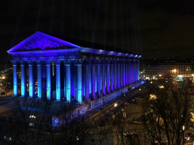 Place de la Madeleine, illuminations