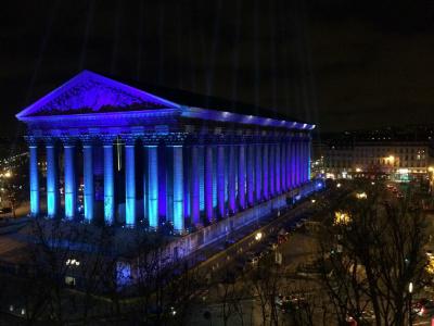 Place de la Madeleine, illuminations