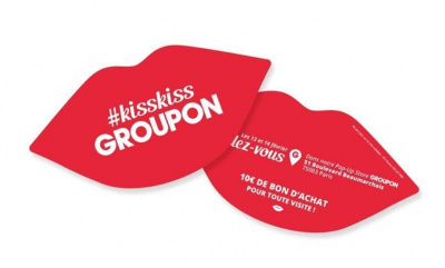 Kiss-Kiss, le pop-up store Groupon