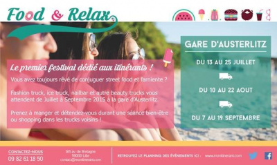 Le food and relax festival à la Gare d'Austerlitz