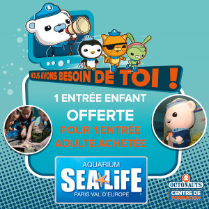 Sea Life accueille les Octonauts