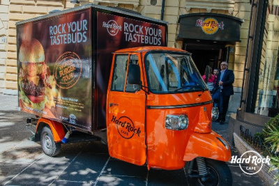 Un Food Truck Hard Rock café à Paris