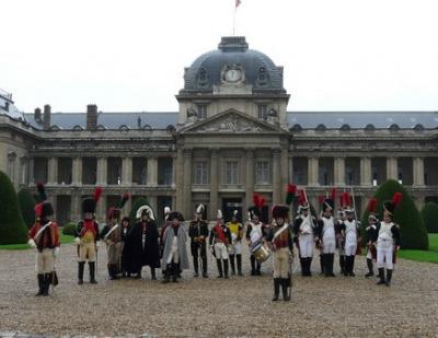 reconstitutions napolénniennes à l'Ecole Militaire