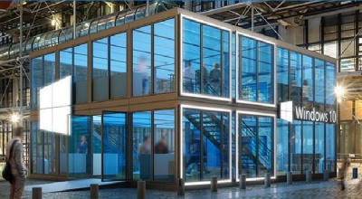 Un Windows Cube au Centre Pompidou pour le lancement