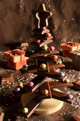 atelier Sapin en chocolat au Musée Gourmand du Chocolat