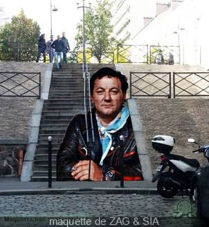 ZAG et SIA signent l'escalier Coluche