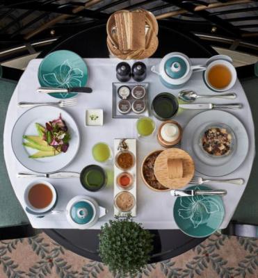 Le petit déjeuner gluten et lactose free du Shangri La