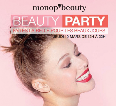 Beauty Party de Monop'beauty