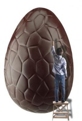 Un oeuf de Pâques géant au Musée Gourmand du Chocolat