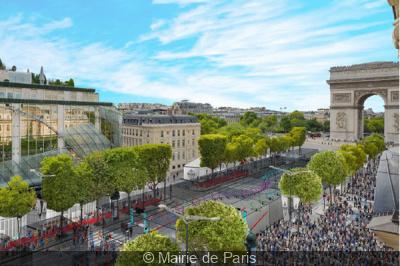 Un festival de drones sur les Champs-Elysées