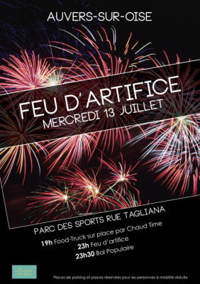 photo auvers sur oise feu d'artifice