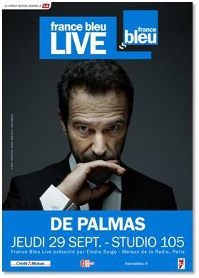 Gérald de Palmas en concert privé pour France Bleu Live