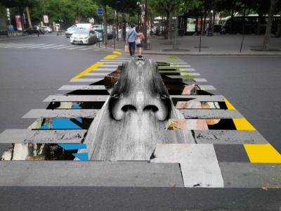 street art dans les rues de Châtelet pour la Journée sans Voiture