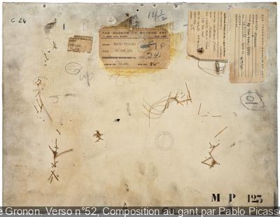 Philippe Gronon révèle le verso des tableaux au Musée Picasso