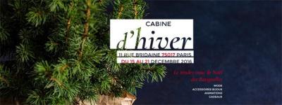 Cabine d'hiver, le marché de Noël des créateurs des Batignollees
