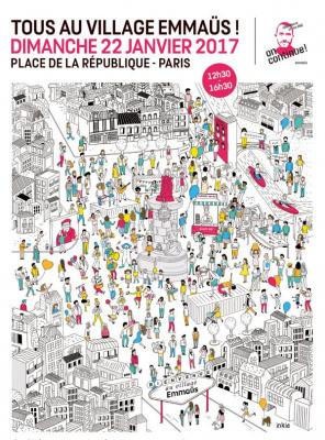 Le village Emmaüs, la grande Fête Populaire Place de la République