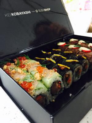 Kei Kobayashi, chef 1 étoile, signe un menu pour Sushi Shop