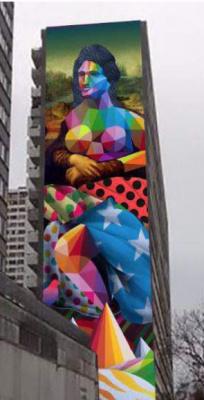 Street art : une Joconde de 50m signée Okuda dans le 13e
