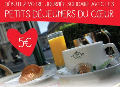 Le Petit-déjeuner du Coeur à 5€ au Café de la Paix
