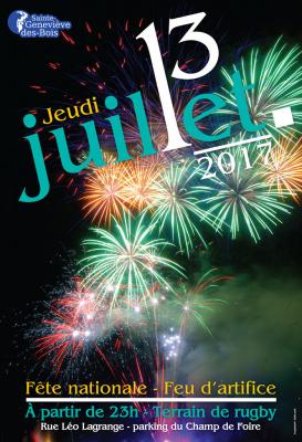 Feu d'artifice 2017 à Sainte-Geneviève des Bois