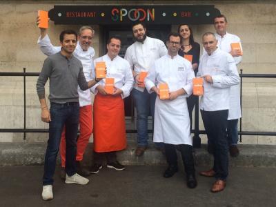 Dîner de Chefs au Spoon au profit des Restaurants du Coeur