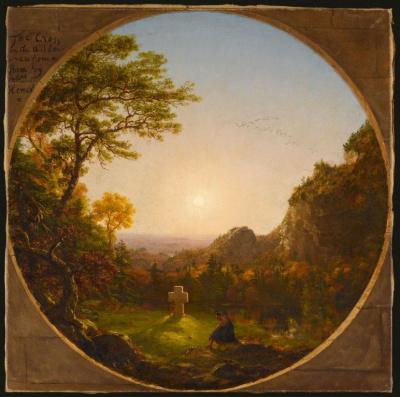 La Croix dans la solitude, Thomas Cole N° d'inventaire : RF 1975 9 Paris, musée du Louvre © 2008 RMN / Jean-Gilles Berizzi