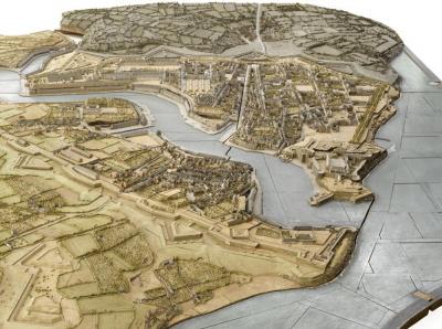 Brest- Vue de la ville depuis le sud-ouest  (C) RMN - © René-Gabriel Ojéda Plan-relief de la ville de Brest