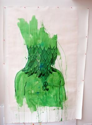 Eko Nogroho, Témoin Hybride, exposition MAM, Love Peace et Vendetta