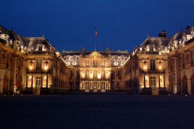 façade Chateau Versailles Nuit,