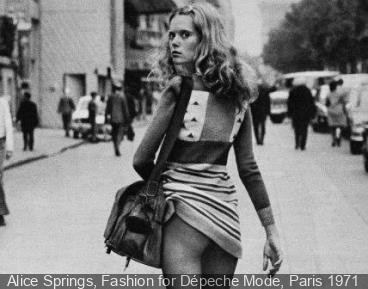 Alice Springs, Fashion for Dépeche Mode, Paris 1971