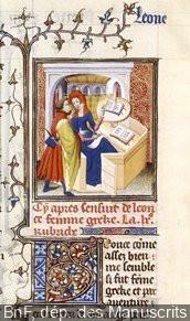 exposition Art d'Aimer BNF, Boccace, Les cleres femmes,  manuscrit, début XVème siècle.