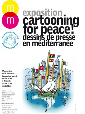 exposition Cartooning for peace Maison des Métallos