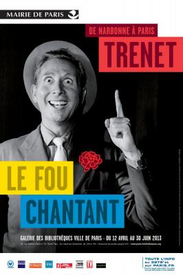 exposition Charles Trenet Galerie des Bibliothèques 2013