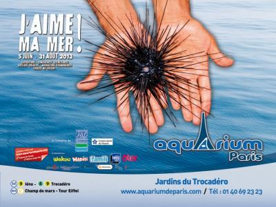 exposition J'aime ma mer à l'Aquarium de Paris