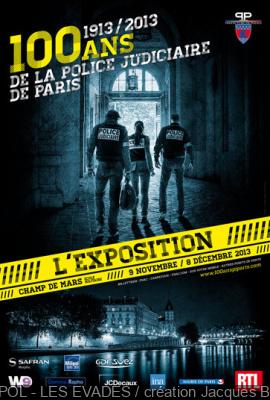 exposition 100 ans de la Police Judiciaire Champ de Mars