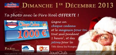 Le Père Noël ouvre le Village JouéClub de Paris ce dimanche