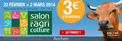 Billet salon agriculture pas cher for Billet salon de l agriculture