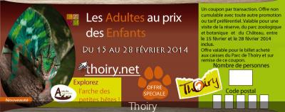 Bon plan Zoo de Thoiry, les adultes au prix des enfants