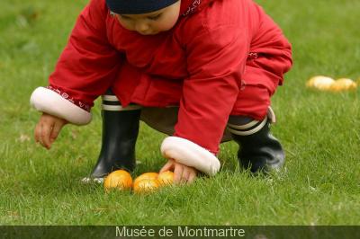 Chasse aux oeufs de Pâques au Musée Montmartre