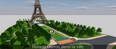 Roland Garros dans la ville 2014 au pied de la Tour Eiffel